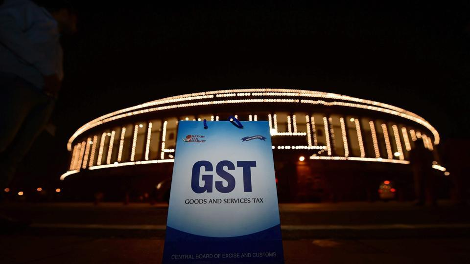 An illuminated Parliament ahead of the midnight launch of the Goods and Services Tax (GST) in New Delhi on June 30, 2017.