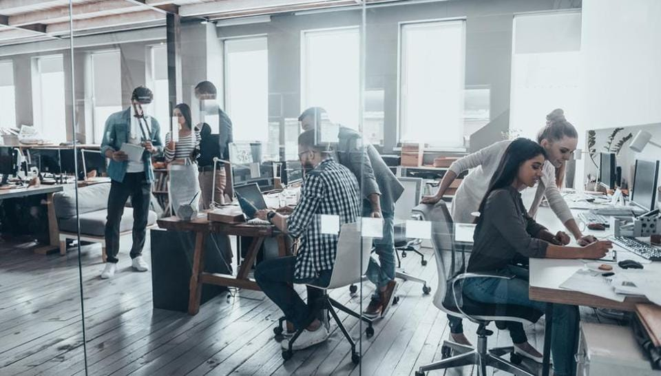Co-working spaces are popular with start-ups and  small businesses as well as among large corporates.