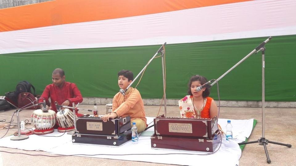 Naman (left) and Mannat at a musical performance in Delhi.