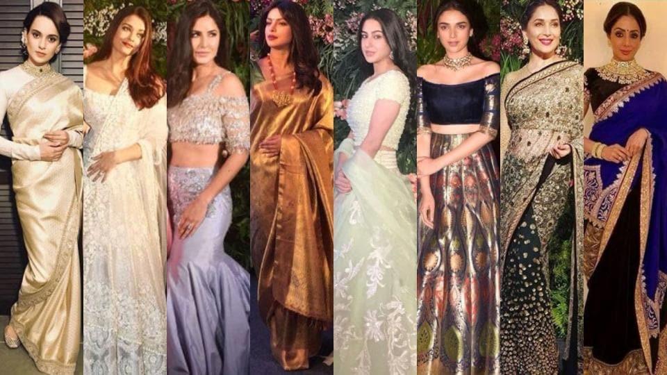 528f6d18f321 Anushka Sharma, Virat Kohli Mumbai reception: Kangana in gold and other  gorgeous celeb looks