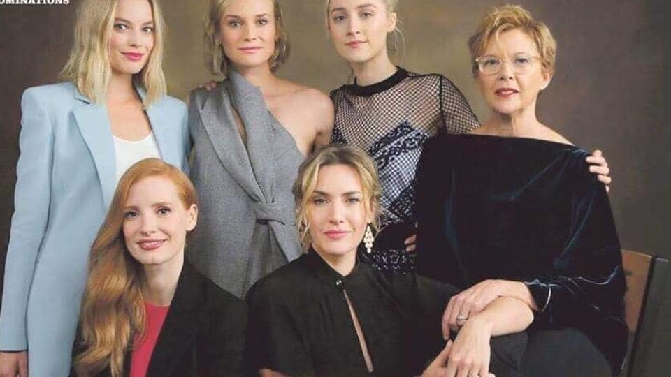Margot Robbie, Diane Kruger, Soairse Ronan, Annette Bening, Kate Winslet and Jessica Chastain on the controversial magazine cover.