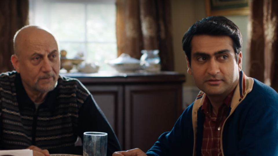 Anupam Kher and Kumail Nanjiani in a still from the Big Sick.