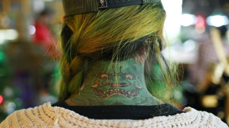 "Once the mark of criminals or sex workers, for centuries tattoos have been stigmatised in China but the growing influence of celebrity culture is changing all that -- particularly for women. The trend is most evident in Shanghai, China's most cosmopolitan city and recently dubbed ""China's tattoo mecca"" by the country's state media. (AFP)"