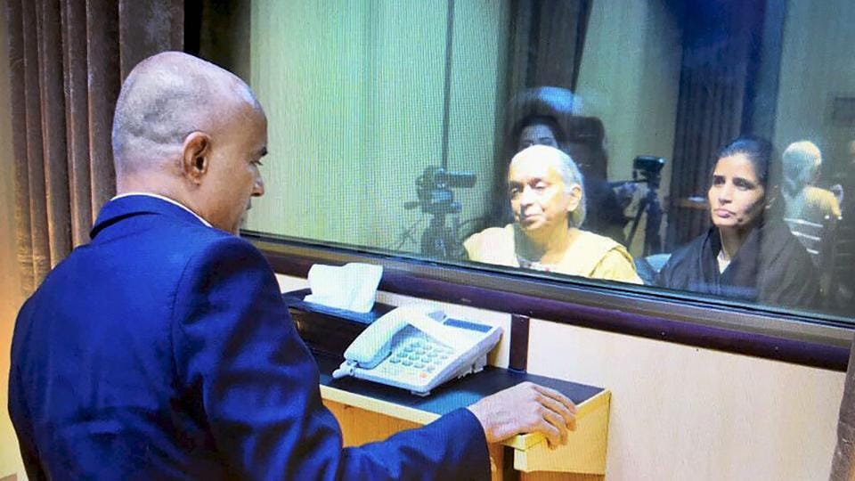 Kulbhushan Jadhav's wife, mother meet Sushma Swaraj upon return from Pakistan