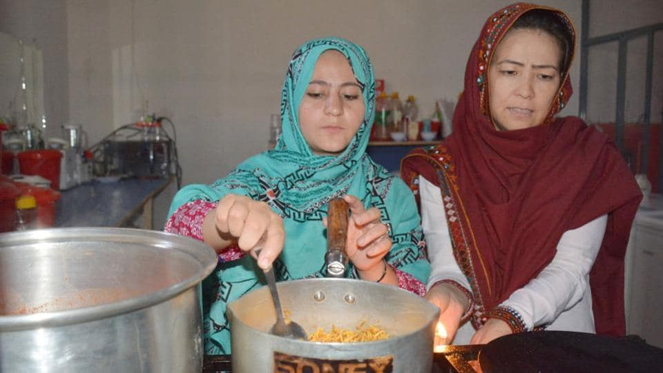 The restaurant has three employees who are all victims of violence. Living with the memories of multiple attacks in 2013 that killed nearly 200 people, Hazara set up the restaurant, hoping to provide a way to help families and female victims of the attacks. (Banaras Khan / AFP)