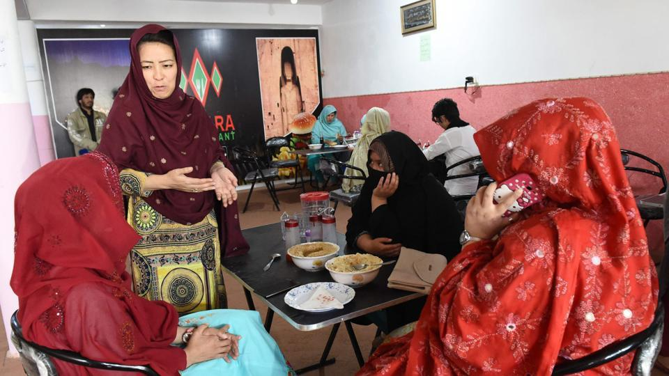 "Besides being a constant target of terrorism, the tribulations of Hazara women are complicated by the patriarchal subordination of a conservative community. Female employment drops to 2% in the service sector in Balochistan. The restaurant also aims to push the staff to ""seize work opportunities instead of staying home with a needle and thread"", Hameeda told AFP. (Banaras Khan / AFP)"
