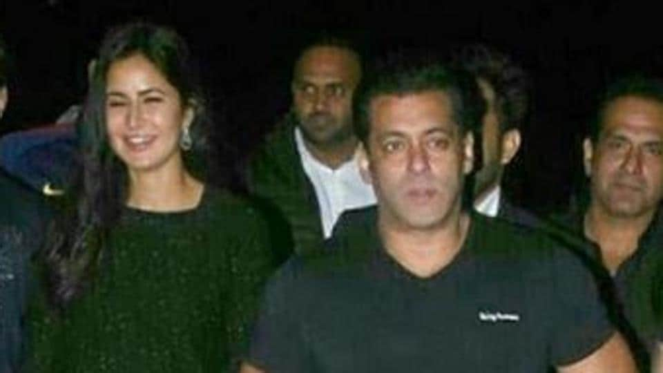 Salman Khan and Katrina Kaif meet reporters before the birthday celebrations.