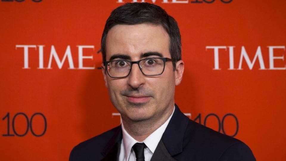 Television host John Oliver says the discussion should have been about Hoffman's answers, not his questions.