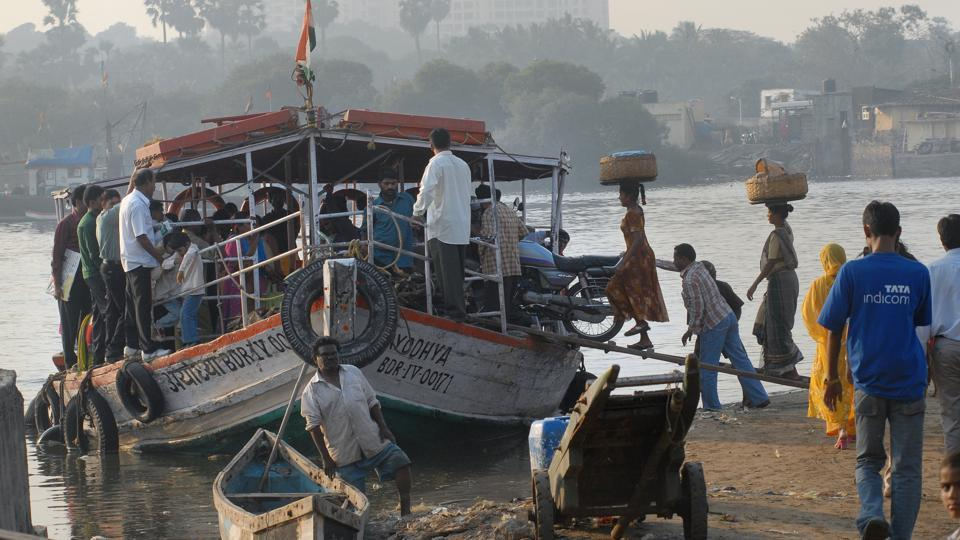 A ferry at Versova.