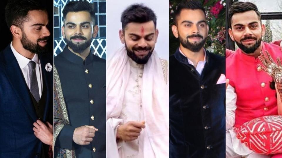 Take a look at Virat's stylish outfits to help you find your wedding fashion inspiration.