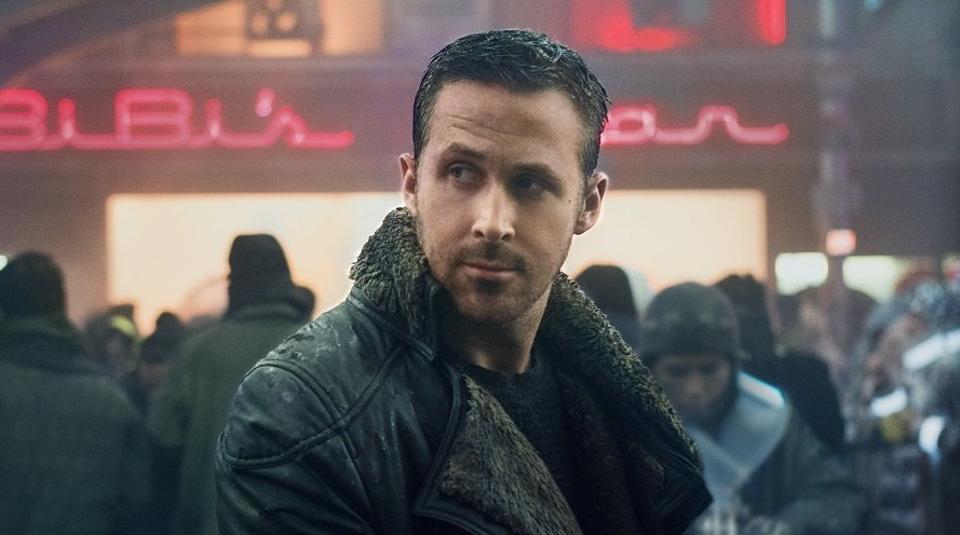 Ryan Gosling in a still from Blade Runner.