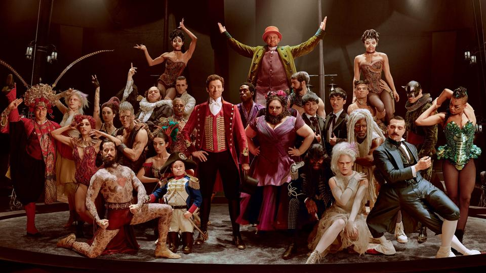 Hugh Jackman plays PT Barnum, who started out as a freak show producer and grew to be a celebrity circus magnate.