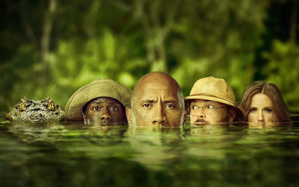 Expect hair-raising beasts and rampaging hippos. There's also body- and gender-swapping mayhem as a lanky nerd morphs into a mountain man (Dwayne Johnson) and a selfie-obsessed diva is transformed into a middle-aged professor (Jack Black).