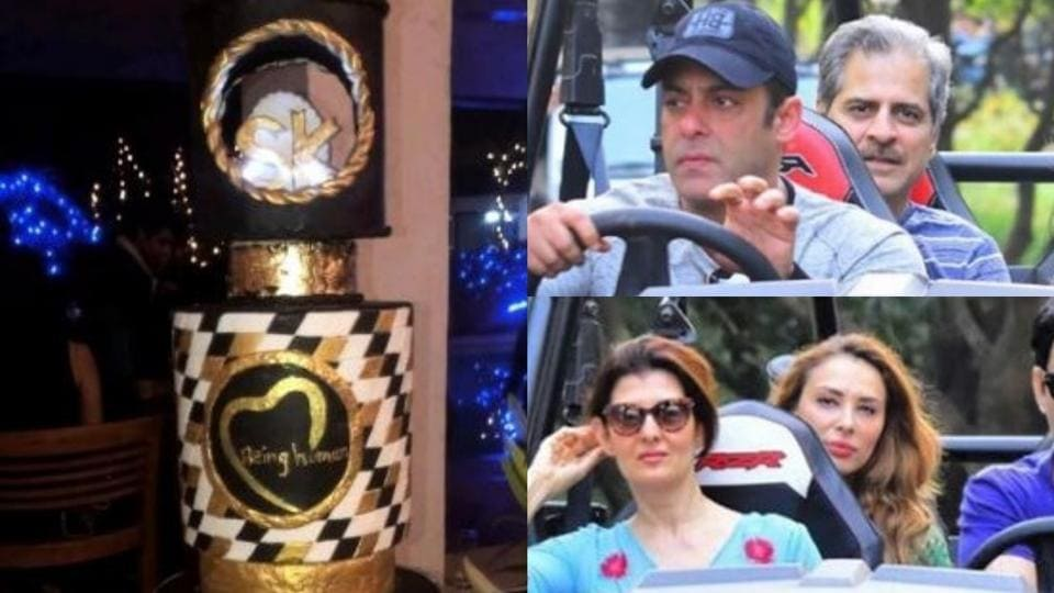 Salman Khans grand birthday cake and other inside pics from the
