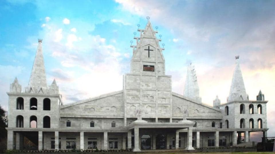 The church has been made using imported white marble and is the first and only temple in Mizoram with a marble structure.