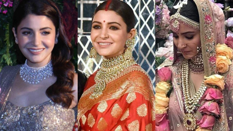 3a37ce50d754 Anushka Sharma's wedding jewellery: Brides, see all her bling before ...