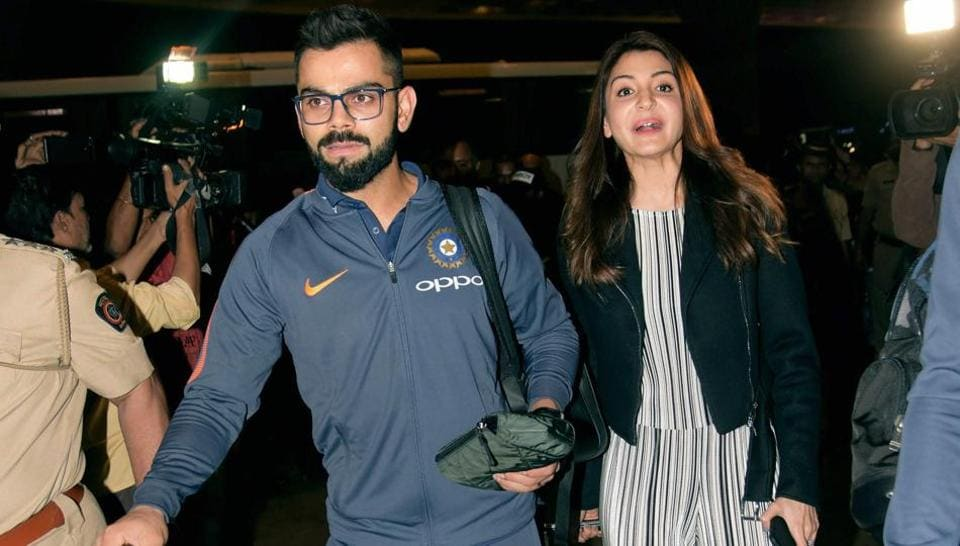 Indian cricket team captain Virat Kohli along with his wife Anushka Sharma leave for the South Africa series from Mumbai on Wednesday. The team arrived in Cape Town on Thursday for the first Test starting in Newlands from January 5, 2018.