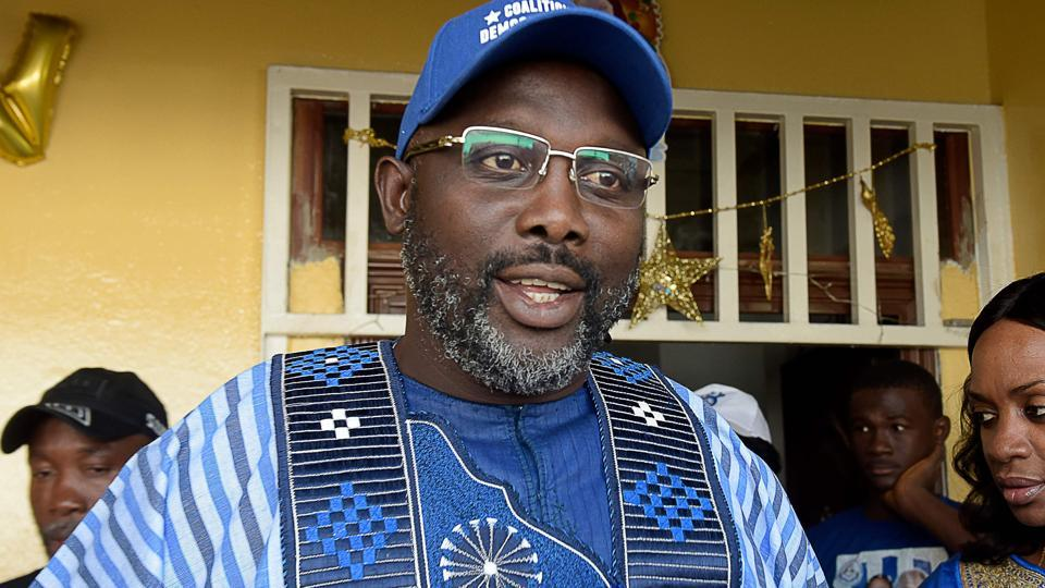 George Weah was named winner of Liberia's presidential election on Thursday.