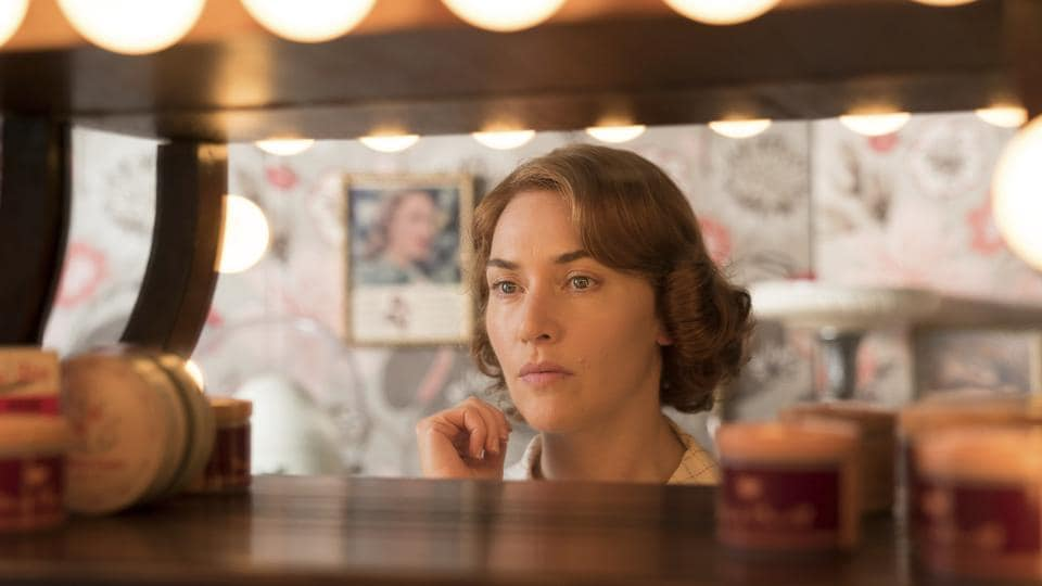 This image released by Amazon Studios shows Kate Winslet in a scene from Wonder Wheel.