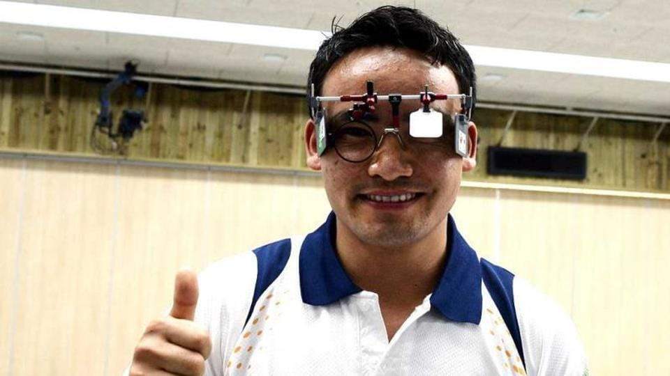 Jitu Rai won the men's 50m pistol national title with a new national record score of 233 at the 61st National Shooting Championship.
