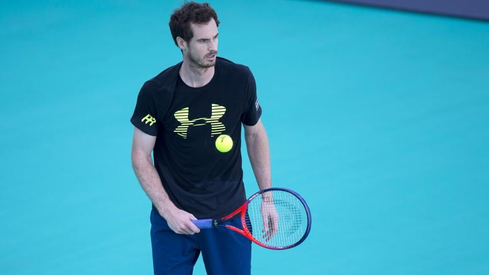 Andy Murray showed physical rust during an exhibition match at the Mubadala World Tennis Championship on Friday, although he never clutched his back or showed any overt signs of still carrying the injury.
