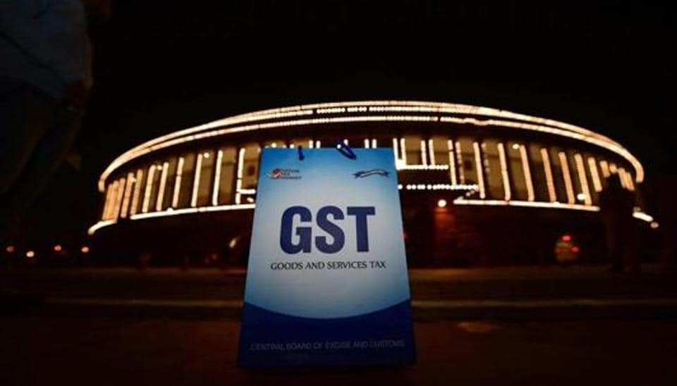 An illuminated Parliament ahead of the midinight launch of  GST on June 30, 2017. The last date for filing GST returns has been extended to January 10, 2018.