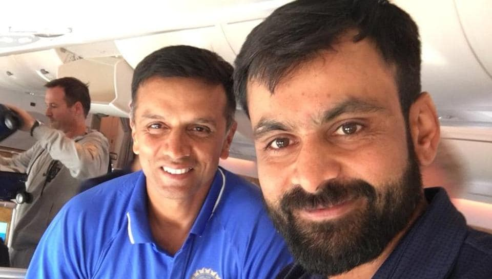 Mohammad Hafeez, the Pakistan cricket team all-rounder, shared a photo with Rahul Dravid, describing him as an incredible 'human being'.