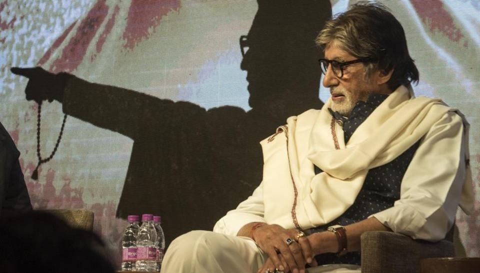 Amitabh Bachchan at the teaser release event of a film on Balasaheb Thackery at Grand Hyatt in Mumbai.