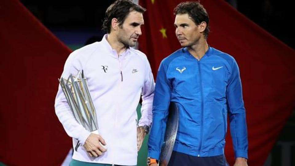 Roger Federer (L) and Rafael Nadal have continued to be dominant forces in men's tennis despite being in their 30s.