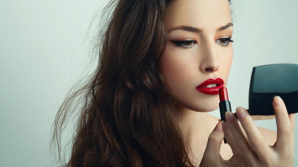 Before applying lipstick, remove the dead skin using a lip scuff for smooth effect.
