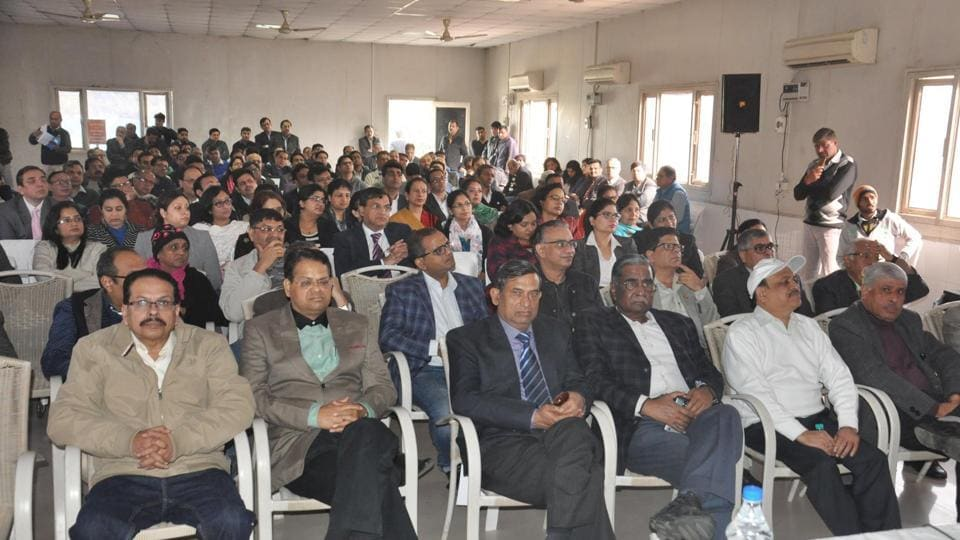 Private doctors in Gurgaon held a meeting in Huda Gymkhana club on December 15 to discuss the new Bill.