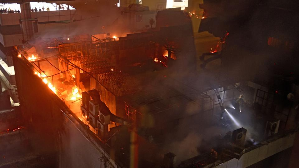 The Kamala Mills compound where a fire broke out on Friday.