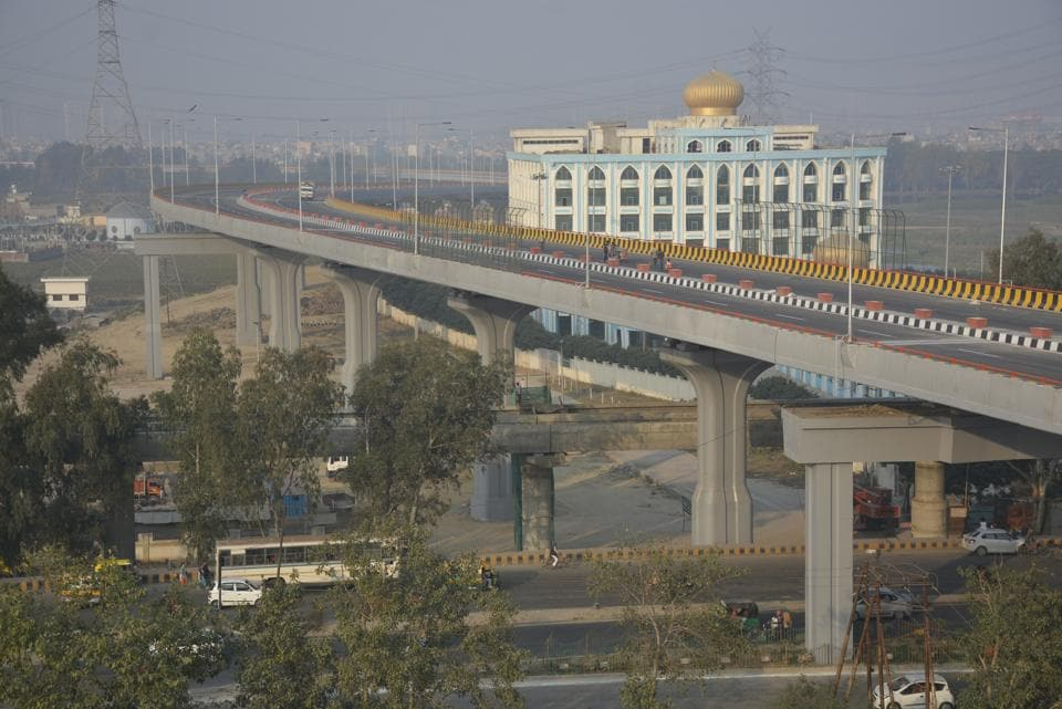 The 10.3km Hindon elevated road is nearing completion in January and will considerably improve connectivity between Ghaziabad and Delhi.