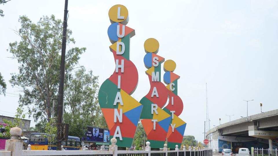 A view at the entrance of Ludhiana Smart City near Jullundur bypass in Ludhiana.