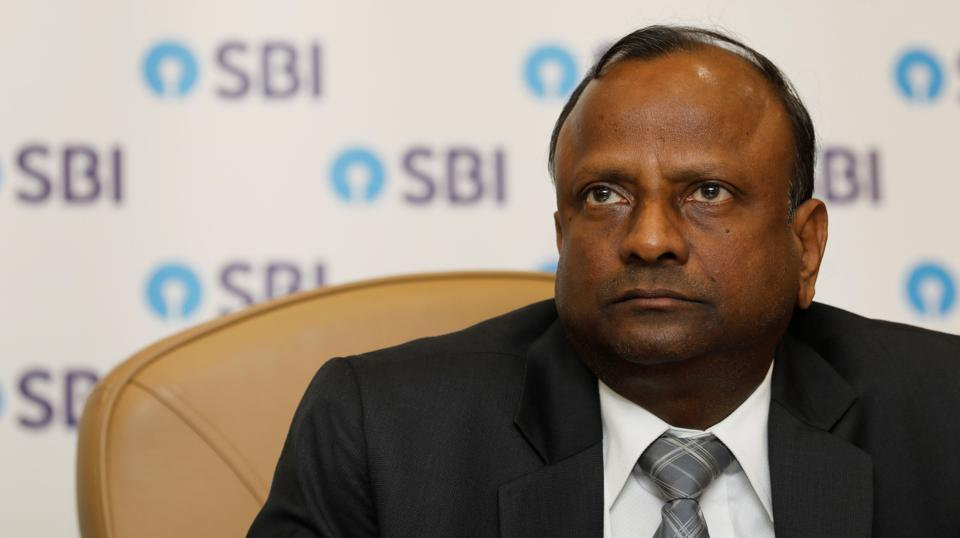 State Bank of India Chairman Rajnish Kumar attends a news conference in Mumbai, November 23, 2017.