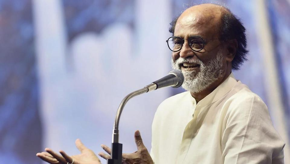 Tamil actor Rajinikanth addresses his fans on the fourth day of his six-day-long session in Chennai, on Friday.