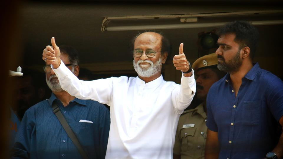 Rajinikanth, after his announcement to launch his own political party, in Chennai, December 31.