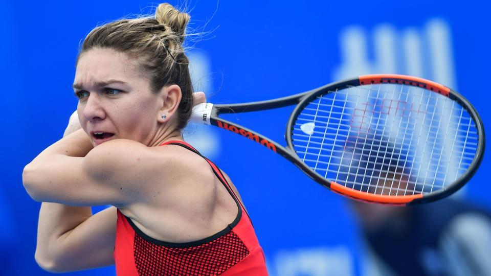 World no. 1 Simona Halep eased into the second round of the Shenzhen Open tennis tournament in Shenzhen on Monday.