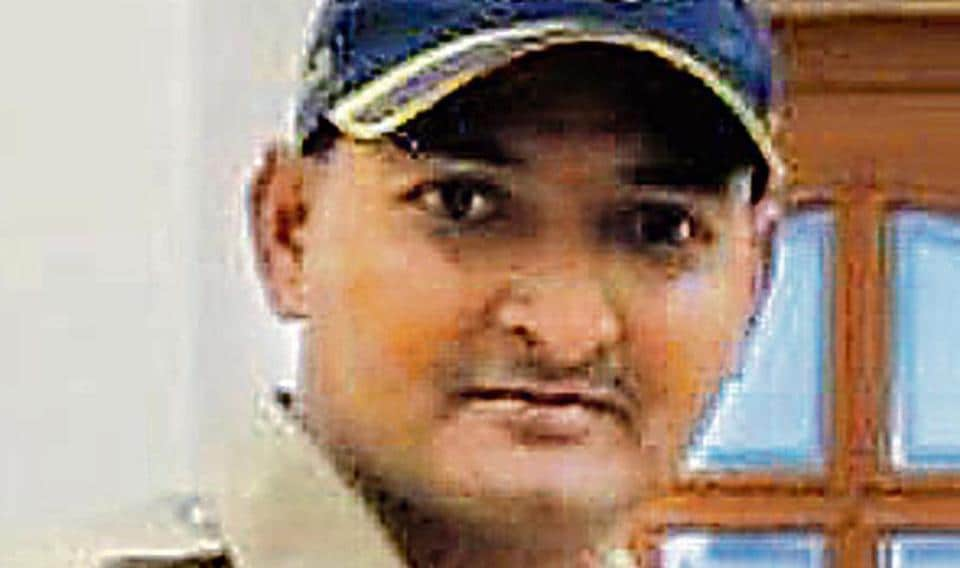 Police constable Sudharshan Shivaji Shinde, 35, from Worli police station.
