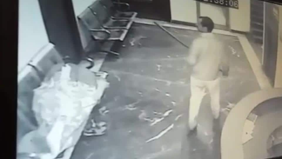 A video screengrab shows the attacker. A woman and three watchmen were among the victims.