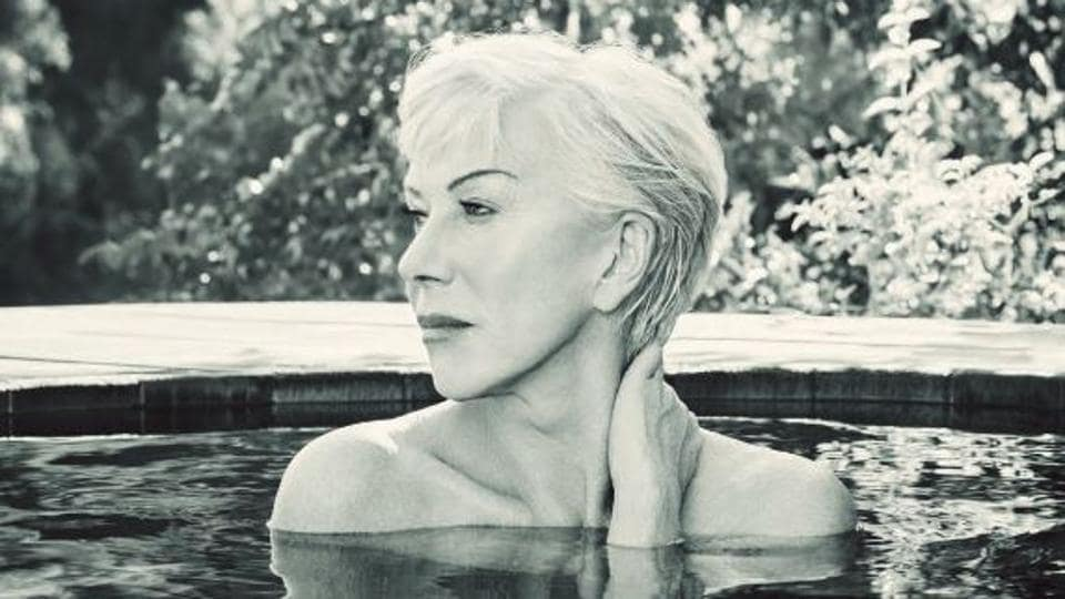 72 year old Helen Mirren poses topless in a pool for magazine. See pics