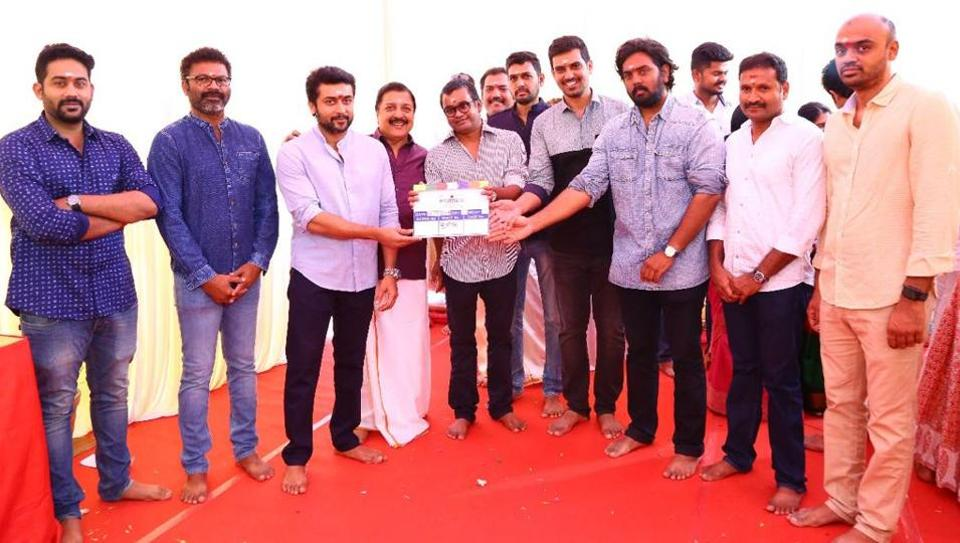 Suriya 36 was launched by director Selvaraghavan and the actor on Monday.