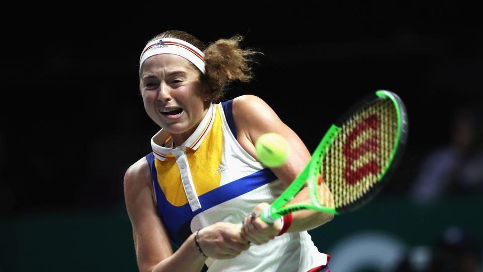 Jelena Ostapenko lost 1-6,4-6 to Krystina Pliskova, the twin sister of former world number one Karolina Pliskova in the first round of the Shenzhen Open.