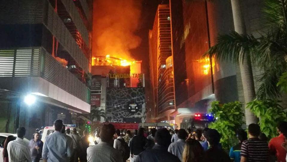 Fire broke out in a building in Mumbai's Kamala Mills, killing 14.