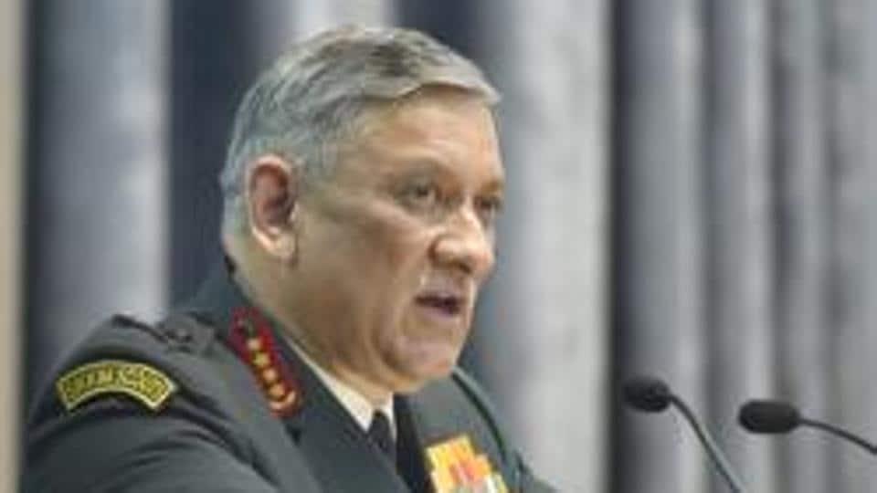 Army chief Gen Bipin Singh Rawat speaks at a seminar at DRDO Bhawan in New Delhi.