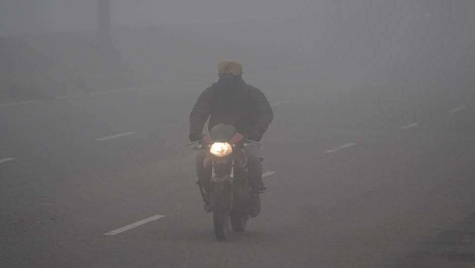 The district administration and police have urged people to drive slowly due to heavy fog.