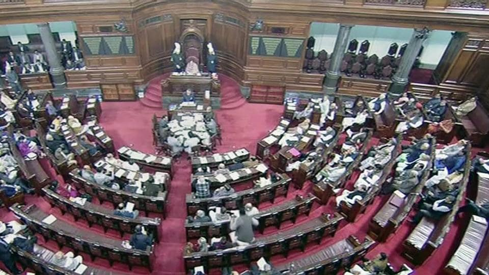 A view of Rajya Sabha in New Delhi during the ongoing winter session of Parliament on Tuesday.