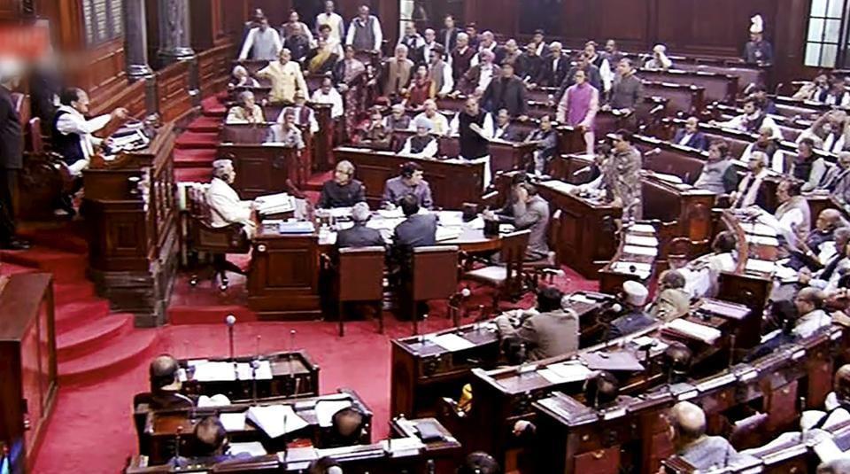 Rajya Sabha chairman M Venkaiah Naidu speaks during the ongoing winter session of Parliament. (PTI Photo / TV Grab)