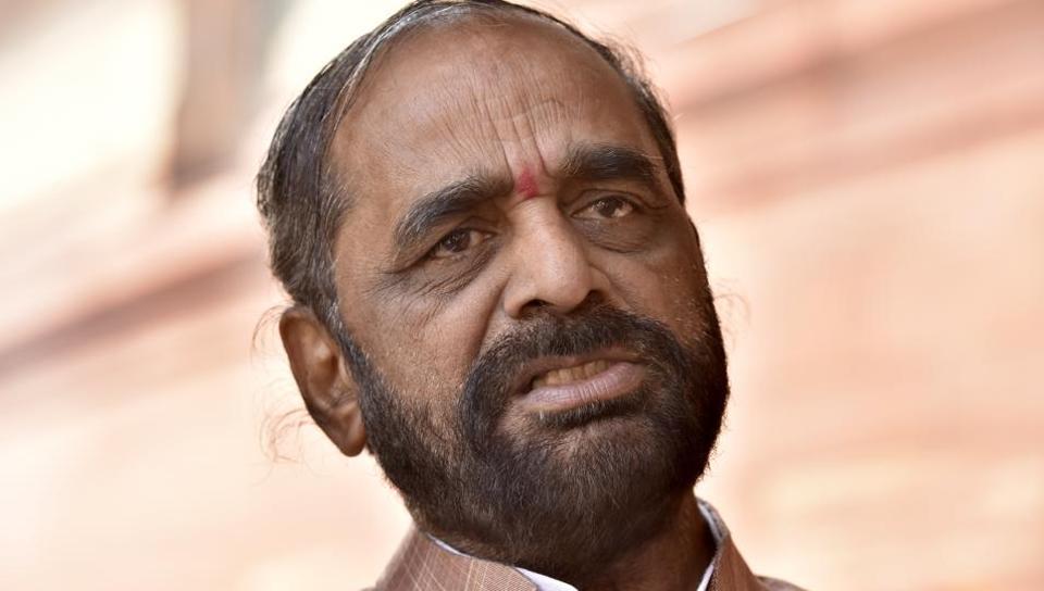 Union minister of state home affairs Hansraj Gangaram Ahir.