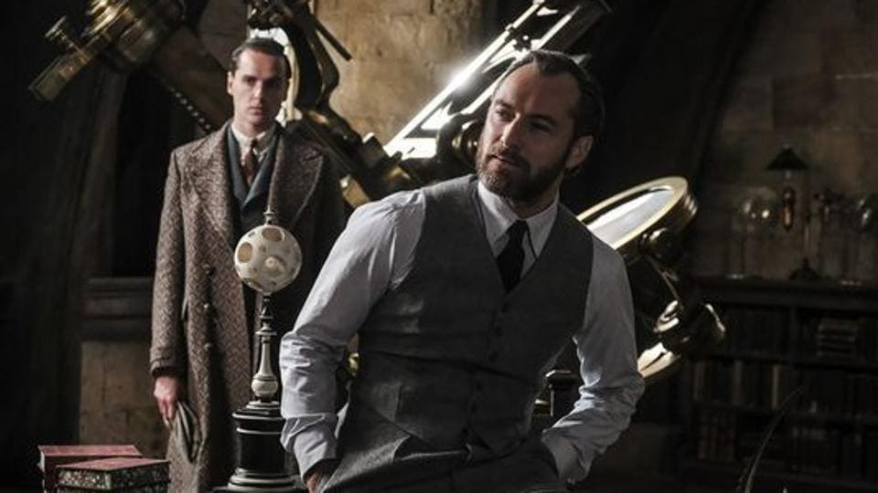 Jude Law as Albus Dumbledore in Fantastic Beasts: The Crimes of Grindelwald.